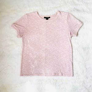 Forever 21 Pale Pink Marl Knit T-Shirt